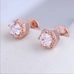 NEW! Henri Bendel Rose Gold Earrings Flaw